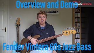 Fender Vintera 60s Jazz Bass | Quick Look | Tone Demo