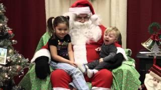 Kids crying on Santa