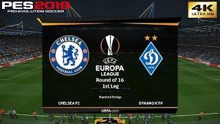 PES 2019 (PC) Chelsea vs Dynamo Kiev   UEFA EUROPA LEAGUE ROUND OF 16   8/3/2019   4K 60FPS