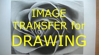 HOW TO DRAW - Transfer An Image Onto Drawing Paper | Graphite Transfer Paper tutorial