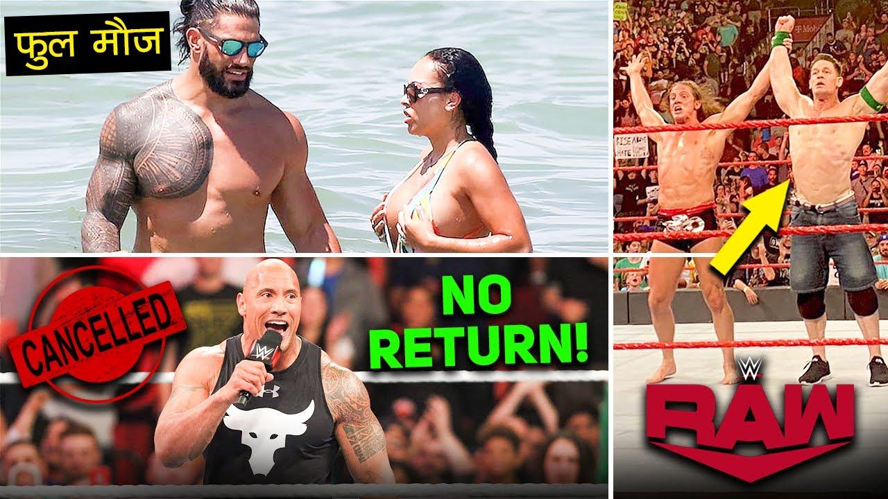 Roman Reigns & Wife BEACH PE MAUJ😛 John Cena Match OFF-AIR! Rock Return CANCEL? WWE RAW Highlights