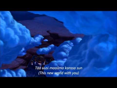 Aladdin - A Whole New World (Finnish)trans+subs