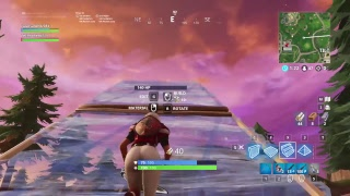 Fornite gameplay with the football skin