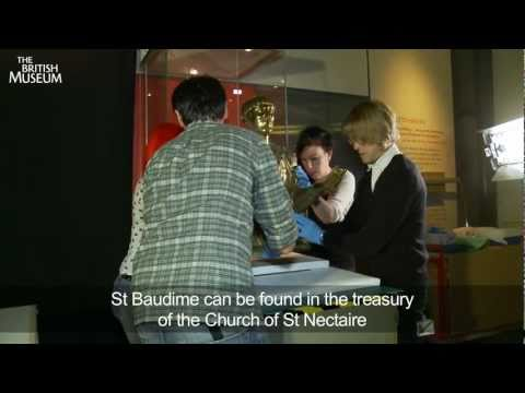 treasures-of-heaven:-installation-of-the-st-baudime-reliquary-exhibition-at-the-british-museum