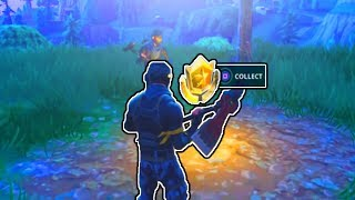SEARCH BETWEEN A METAL BRIDGE, THREE BILLBOARDS, AND A CRASHED BUS! FORTNITE TREASURE MAP LOCATION!