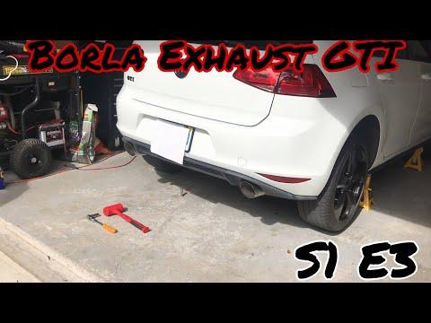 Installing A Borla Exhaust On The Gti (Soundclips) S1 E3- Alex Stavrinos