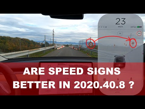 Speed sign recognition and glovebox locking in 2020.40.8
