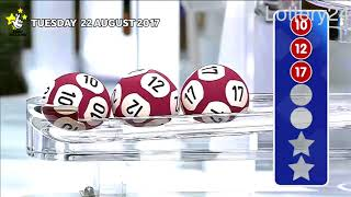 2017 08 22 Euro Millions Number and draw results