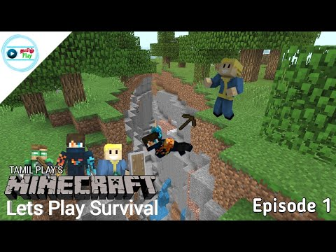 Tamil Play's Minecraft Lets Play Survival - Episode 1