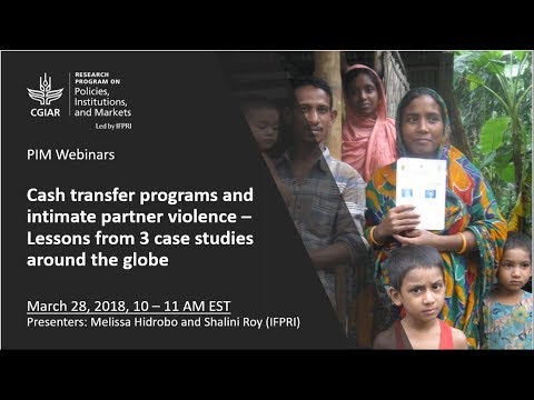 Cash transfer programs and intimate partner violence – Lessons from 3 case studies around the globe