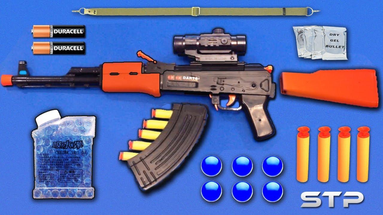 Realistic Ak47 Toy Gun Water Gel Ball Bullet Machine Gun Toy