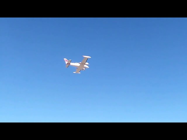 Cessna 320 SkyKnight Takeoff from the Calhan Colorado Airport 5V4