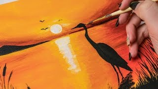 how to paint a sunset
