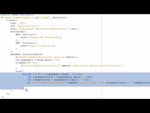 selects dependentes com jsp, servlet e ajax
