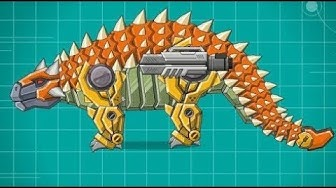 Robô Dinossauro Anquilossauro - Joguinho de Robô Transformers para Montar