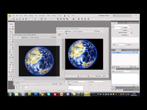 How to make an animated gif in Adobe Fireworks CS4