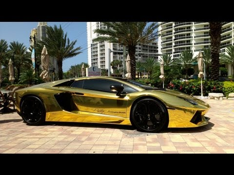 First Gold Plated Lamborghini Aventador LP700-4  Better only Lamborghini Veneno,Lamborghini Egoista