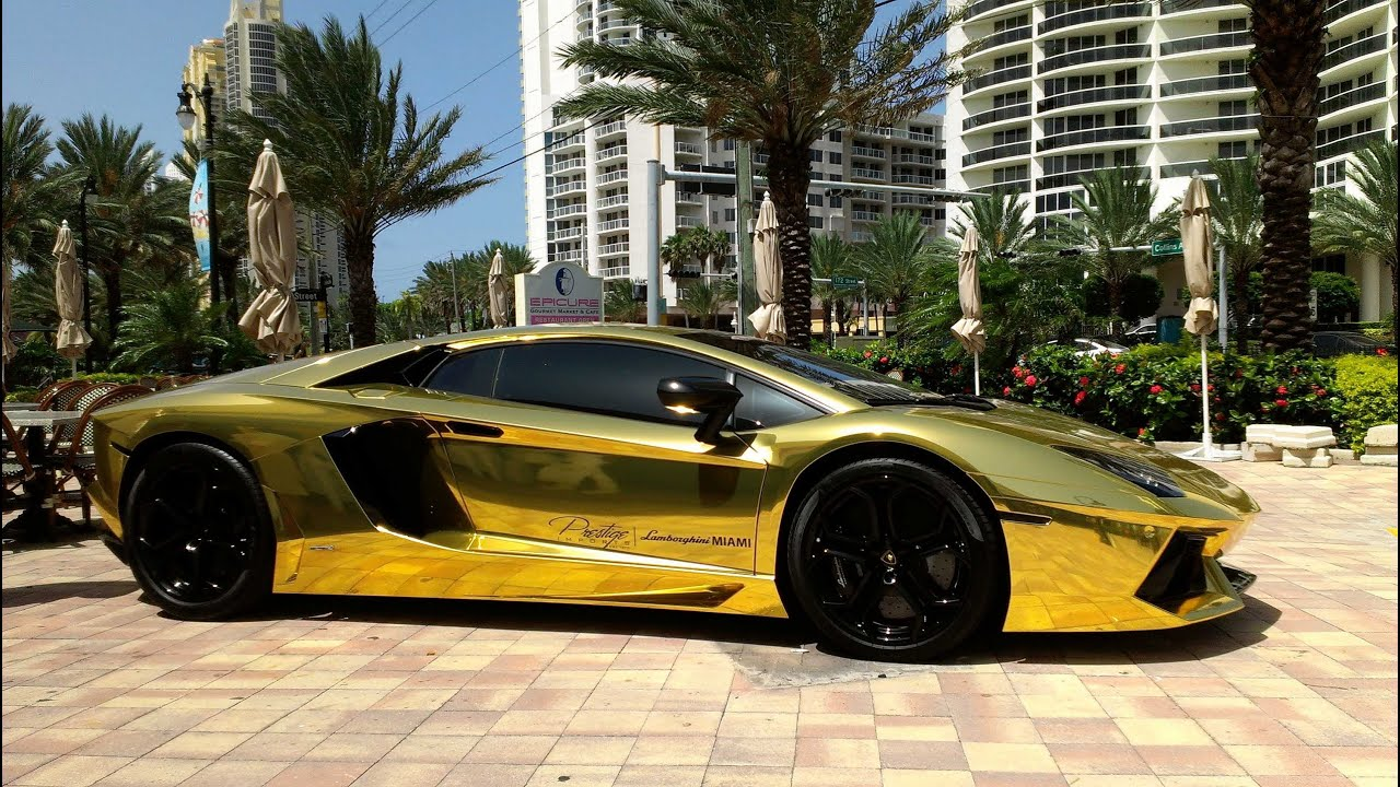 First Gold Plated Lamborghini Aventador Lp700 4 Better Only