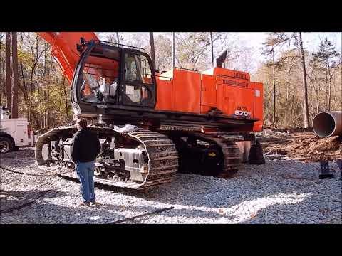 Assembling A Brand New Hitachi 870 Excavator!