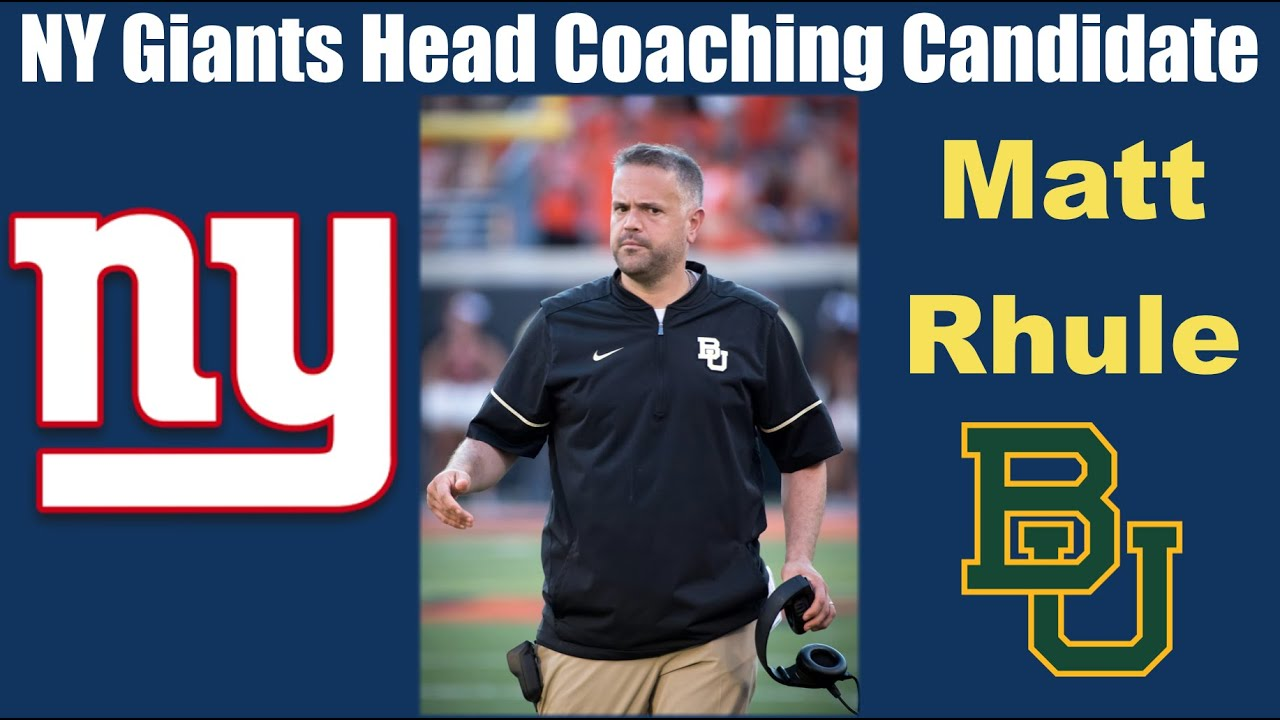 Why Matt Rhule would be 'very, very successful' as Giants coach ...