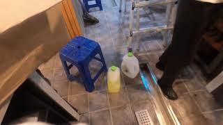 송파 카페 입주청소 주방 바닥 청소 영상