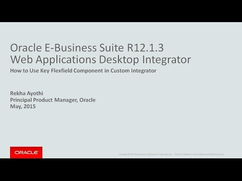 Oracle Web Applications Desktop Integrator - Using Key Flexfield Validated Component