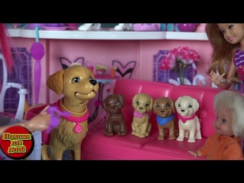 Сериал куклы Барби Жизнь в доме мечты, Таффи родила щенят ...