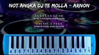 Download Mp3 Not Pianika Dj Te Molla  Arnon