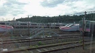 秋田新幹線 E6系 こまち34号 東京行き 秋田発車(大曲まで後ろ向きに走行)