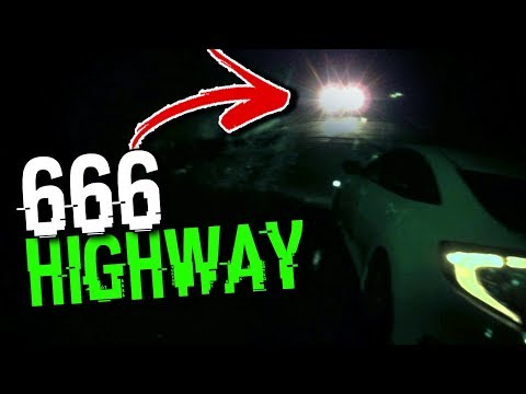 following mysterious car on the 666 highway.. (SCARY)