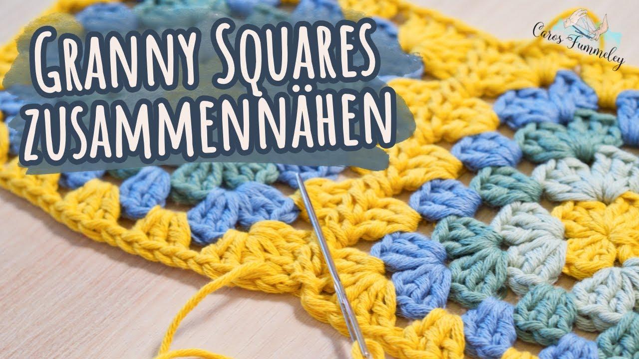 Granny Squares zusammennähen