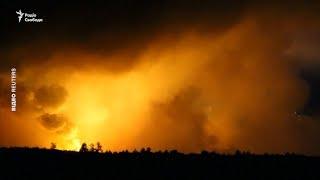Вибухи на складі боєприпасів поблизу Ічні – кадри з місця події