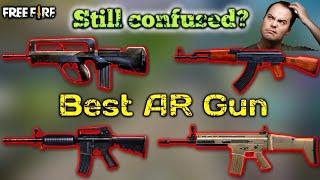 Best AR Gun, Best Gun for long range in free fire tips by DEATH RAIDER GAMING