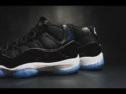 5b8e00d4705d33 Unboxing Nike Air Jordan 11 XI OG Space Jam 2016 45 Playoff - YouTube