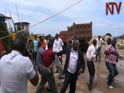 Wakiso district chairman arrests Chinese nationals for sand-mining