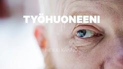 Kirjailija Heikki Kännö esittelee työhuoneensa 360 asteen videolla