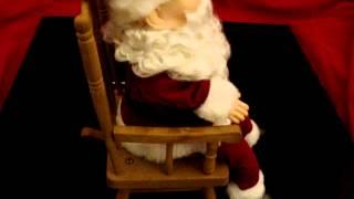 Gemmy Rocking Santa Claus1991 Singing Jingle Bells Christmas Chair w Bonus