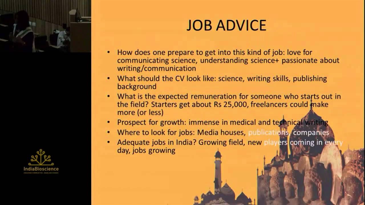 Science writing career