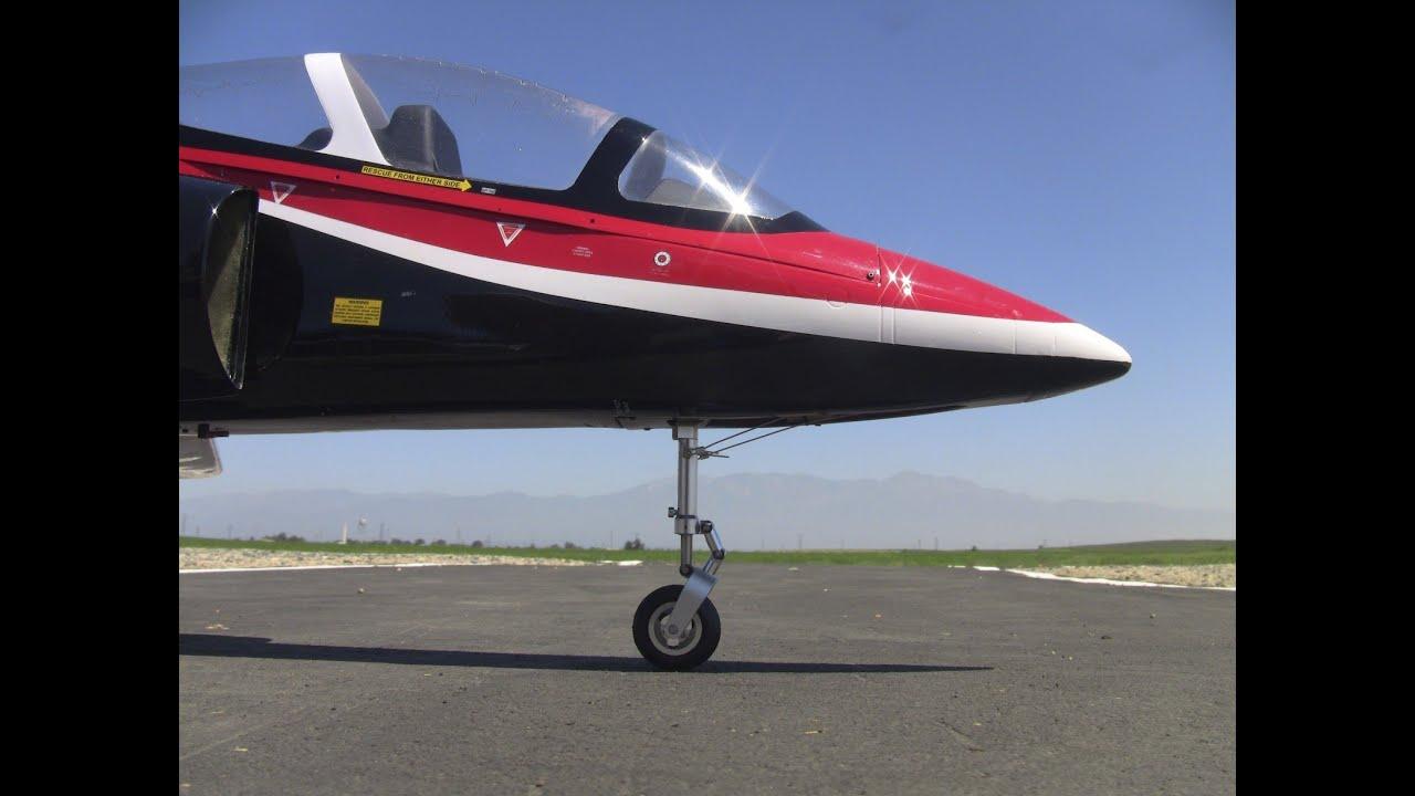RC HobbyKing 90mm BAE HAWK EDF Jet Hard Landing - YouTube