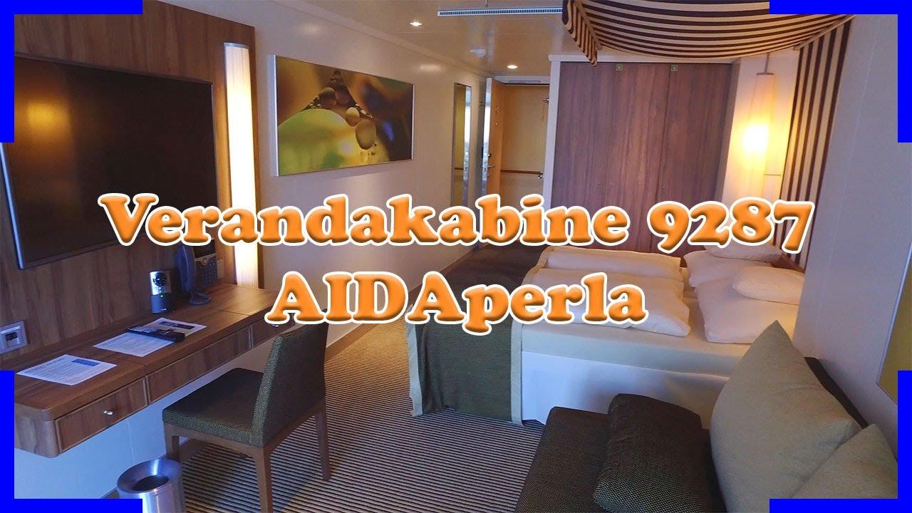 Verandakabine aida  AIDAperla Verandakabine 9287 mit extra viel Platz | 3 Personen ...