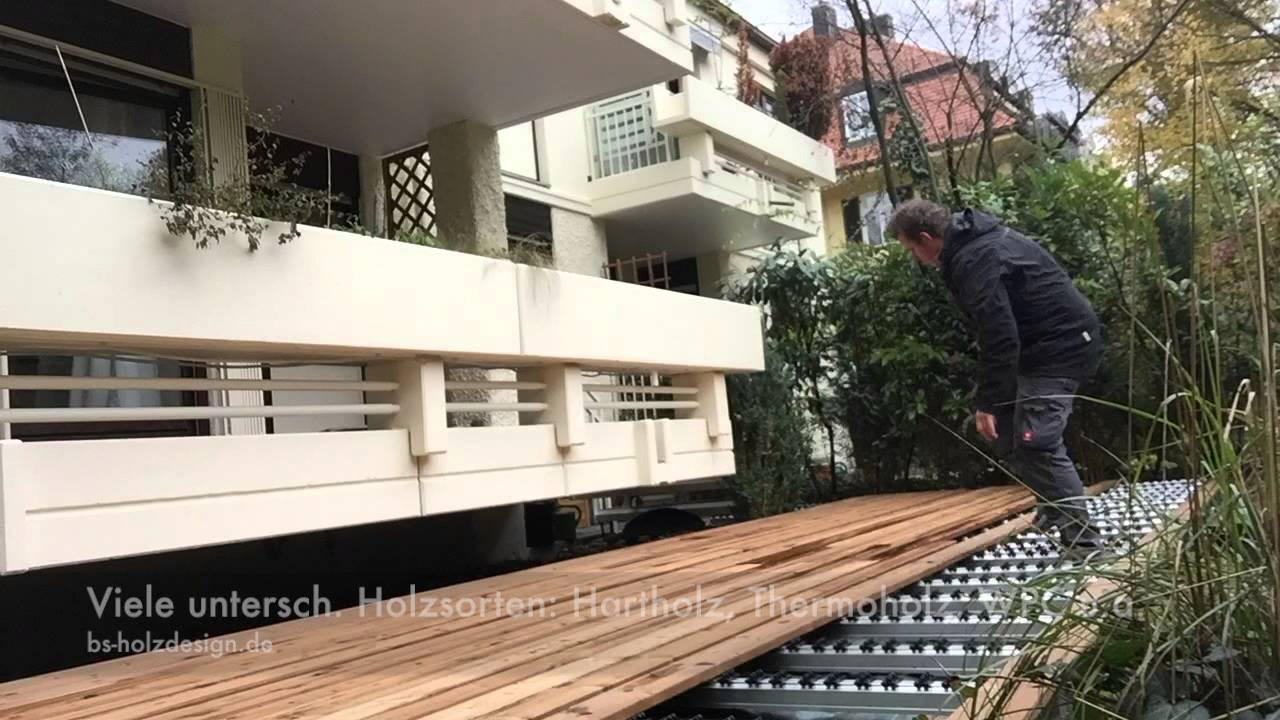 Holzterrassen Clipsystem Bs Holzdesign Youtube