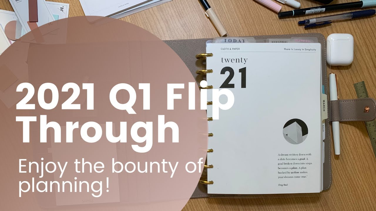 # 2021 Q1 Flip Through Catch All Planner