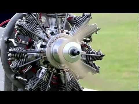 Evolution 77cc Radial Engine