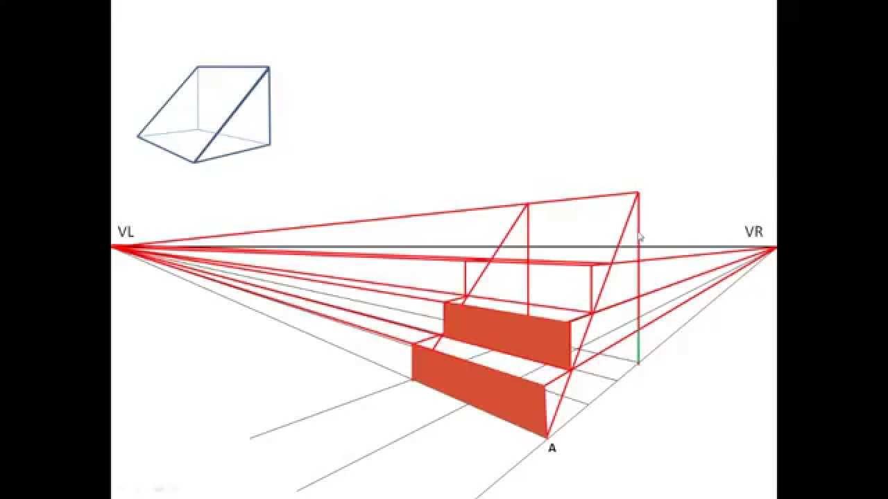 Te 6 trap in tweepuntsperspectief youtube - Hoe een trap te kleden ...