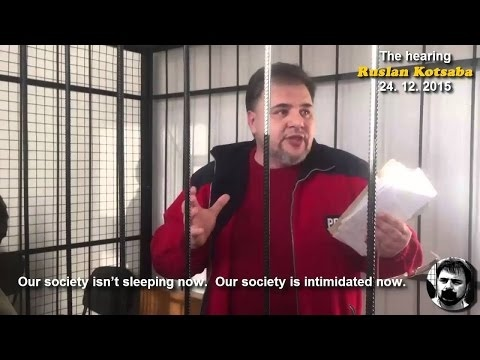 Imprisoned  by Ukrainian regime Ruslan Kotsaba appeal to int
