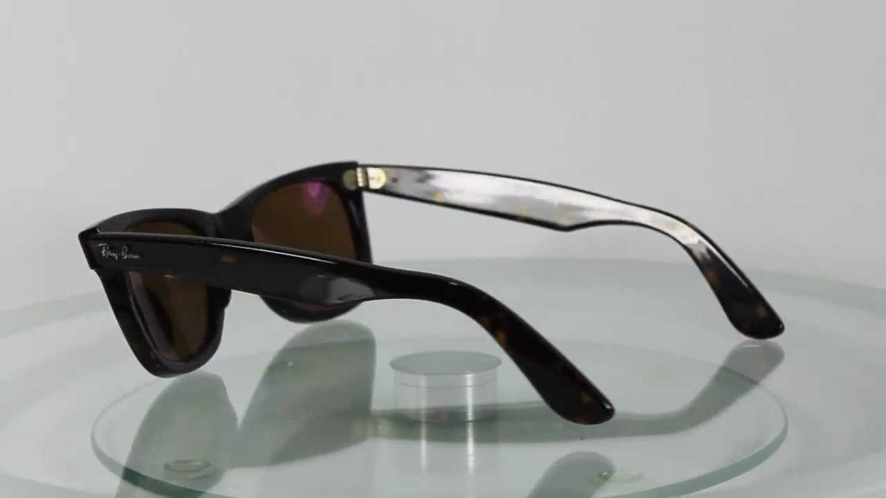 ray ban 2140 902  Ray-Ban RB2140 902/57 Original Wayfarer Polarized - YouTube