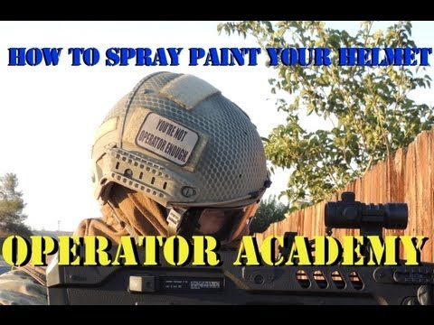 Operator Academy: How to paint your airsoft helmet with Jet DesertFox