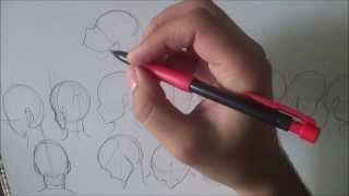 How to Draw Manga Heads Rotation