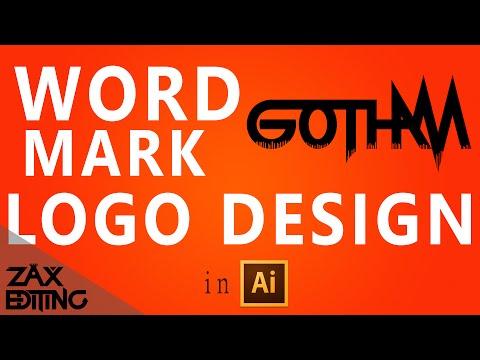 How to Make a Word Mark Logo!   Adobe Illustrator Tutorial