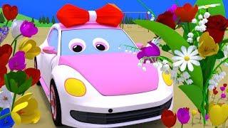 У грузовика Темы появился новый друг - машинка Люся, познакомимся с ней, и подарим букет цветов.